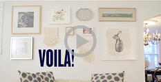 DIY video gallery wall