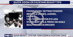 FOX5 video content beauty tips for zoom facetime