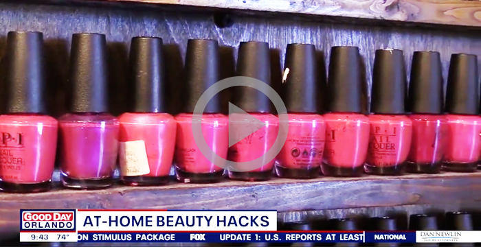 FOX35 video content beauty hacks at home
