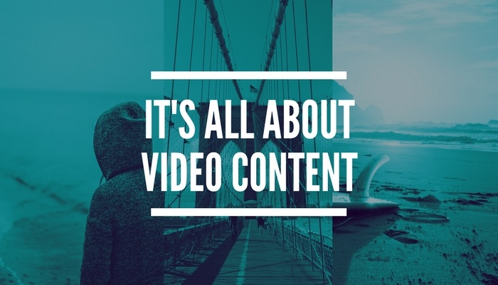IT'S ALL ABOUTVIDEO CONTENT